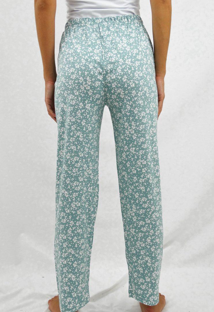 Παντελόνι πιτζάμας με τύπωμα φύλλα
