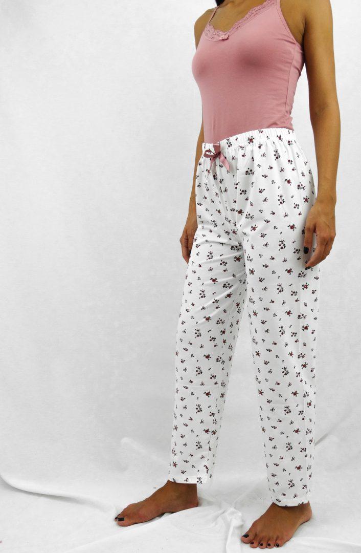 Παντελόνι πιτζάμας με τύπωμα λουλούδι